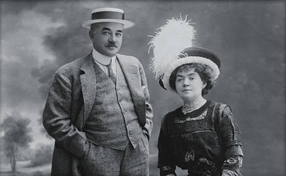 Milton Hershey y su esposa